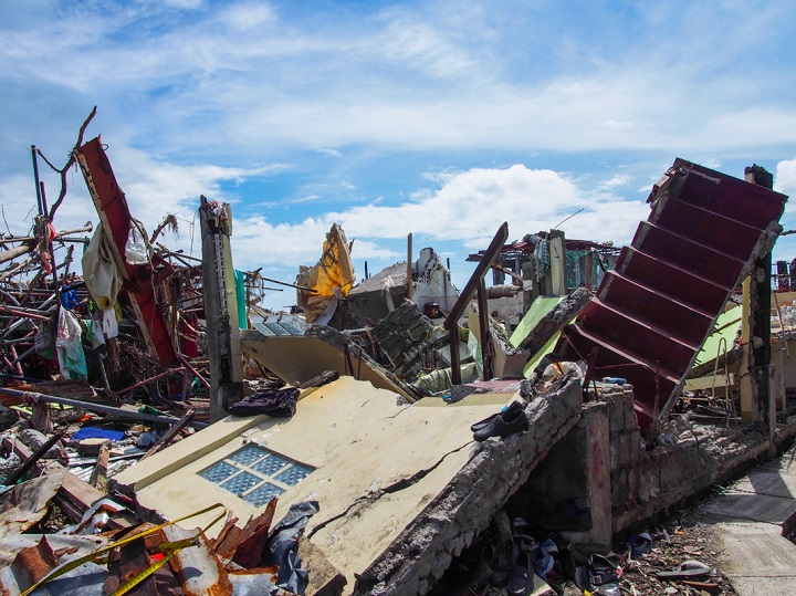 Even concrete houses like this could not withstand the force of the storm surge and were completely annihilated. Typhoon Haiyan damaged or destroyed close to 1.1 million homes. Photo credit: Timo Luege