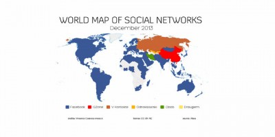 World Map of Social Networks, Vincos.it